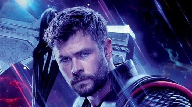 Chris Hemsworth as Thor in a poster for Avengers: Endgame.