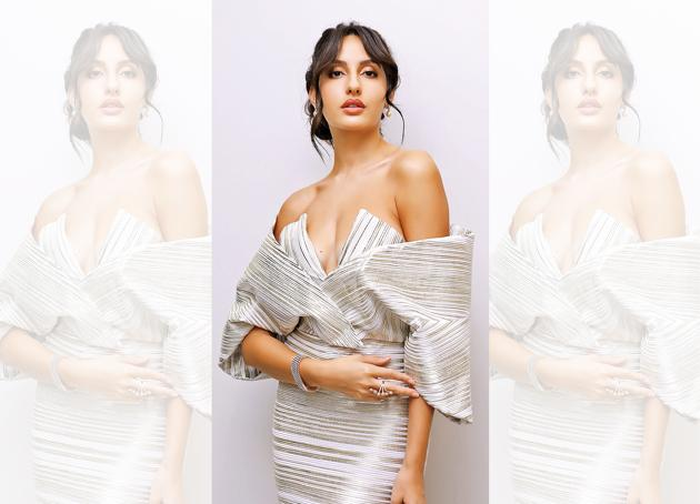 Actress and dancer Nora Fatehi finds belly dancing to be super sexy. Styling: Leepakshi Ellawadi; Make-up and hair: Marcelo Pedrozo. Outfit, Caroline Bibawi; ring, Valentini Largo Carducci; earring, Diosa by Darshan Dave(Archi Bora)