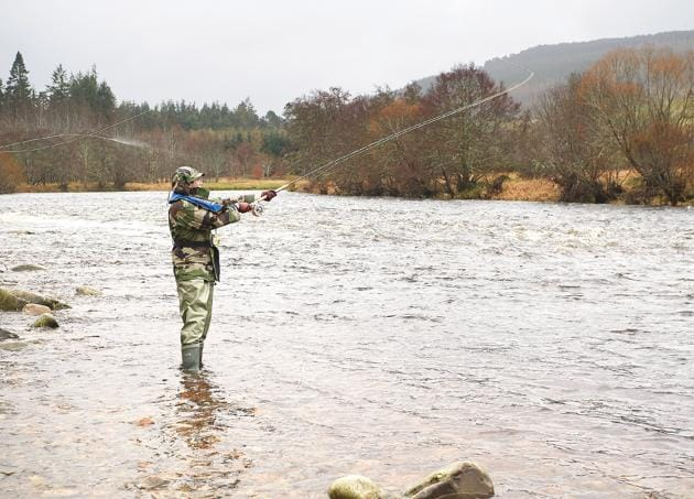Fishing is genuine sport on river Spey in Scotland(Shutterstock)
