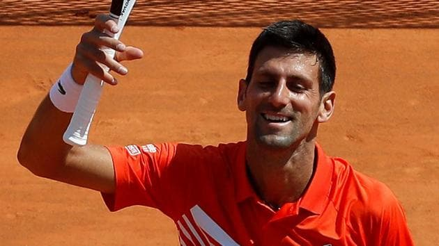 Serbia's Novak Djokovic celebrates winning his third round match against Taylor Fritz.(REUTERS)