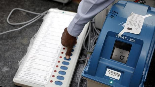 The Congress candidate from the Gurgaon Lok Sabha constituency, Captain (retd) Ajay Singh Yadav, filed his nomination papers on Thursday.(HT Photo/Representative Image)