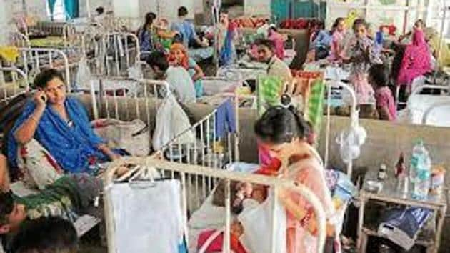 Two beds for the elderly will be kept reserved in every ward and officials are directed to mention 'reserved for elderly' behind the wall of the bed.(HT File)