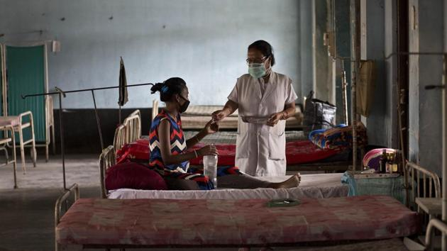 In 2018, number of TB cases in the district recorded an increase of 68% as compared to 2017. Health officials attributed the rise to better detection. A planning meeting was held on Friday at the Civil Hospital in Civil Lines.(AP Photo/Anupam Nath)