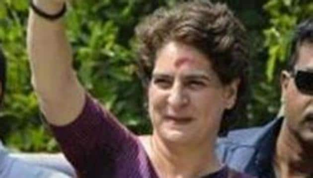 Silchar: Congress General Secretary Priyanka Gandhi takes part in a roadshow, during the ongoing general elections, at Silchar, Assam, Sunday, April 14 2019. (PTI Photo)(PTI4_14_2019_000093B)(PTI)
