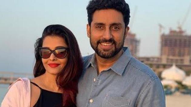 Abhishek Bachchan, alongwith wife Aishwarya and Aaradhya.(Instagram)