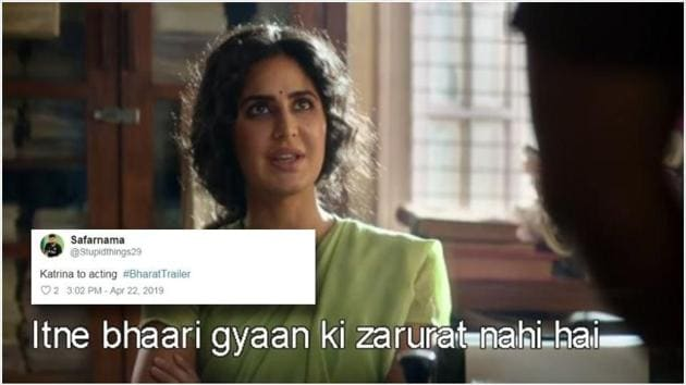 Bharat's trailer got funny reactions from Twitter. Check out the best of them.