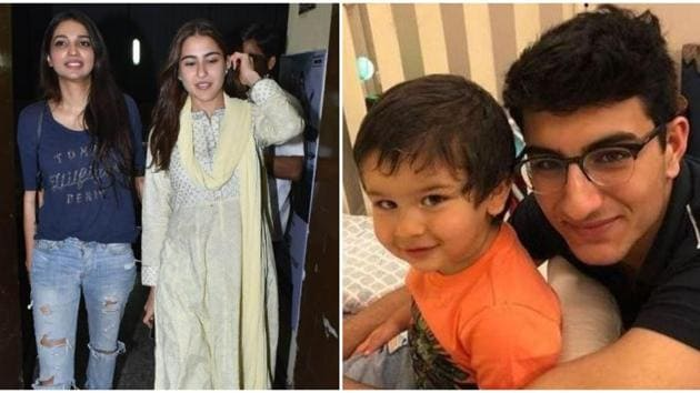 Sara Ali Khan shared a new photo of brothers Taimur and Ibrahim Ali Khan.(Varinder Chawla/Instagram)