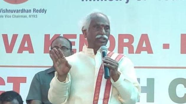 BJP leader and Secunderabad MP, Bandaru Dattatreya, alleged that Hyderabad is a safe haven for Islamic terrorist activities(Bandaru Dattatreya/Twitter)