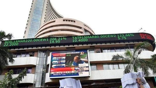 The benchmark BSE Sensex tumbled by over 450 points during afternoon trade on Monday while Nifty was down 150 points.(File Photo)