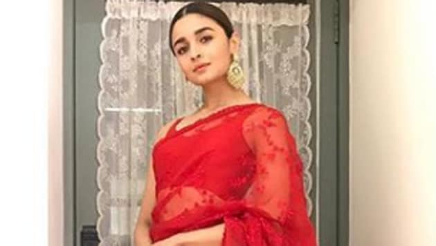 The Bollywood divas are currently crushing on the classic red saree.(Sabyasachi Official/Instagram)