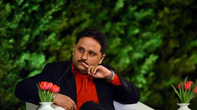 Author Amish Tripathi says he isn't comfortable with too much visibility.(Photo: Amal KS/HT)