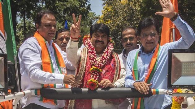 Sena-BJP candidate Manoj Kotak(Pratik Chorge/HT Photo)