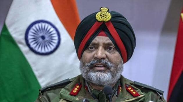 "Lieutenant General Kanwal Jeet Singh Dhillon also claimed that the recruitment of local youth has come down to ""exceptionally good"" level.(HT Photo)"