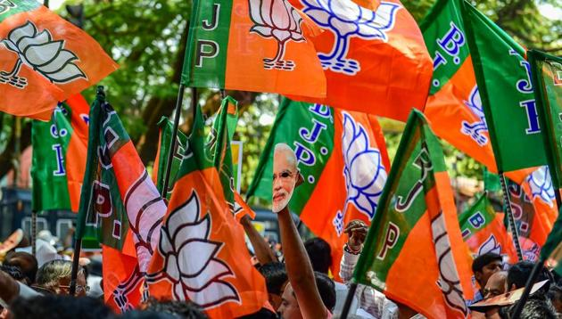 Party's fate will likely be determined in a few large states where it is challenged by Congress or regional parties.(PTI)