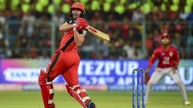 Bengaluru: RCB batsman AB de Villiers plays a shot during the Indian Premier League 2019 (IPL T20) cricket match between Royal Challengers Bangalore (RCB) and Kings XI Punjab (KXIP), at Chinnaswamy Stadium in Bengaluru, Wednesday, April 24, 2019(PTI)