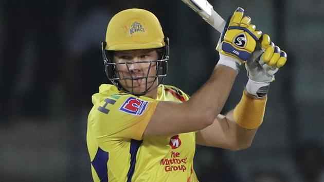 File image of Australian cricketer Shane Watson in action in IPL 2019(AP)