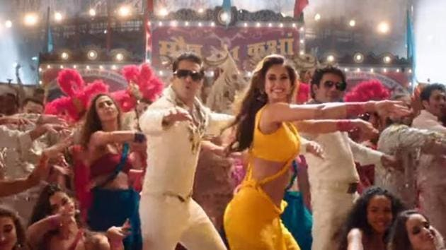 Salman Khan and Disha Patani in a still from Slow Motion song.