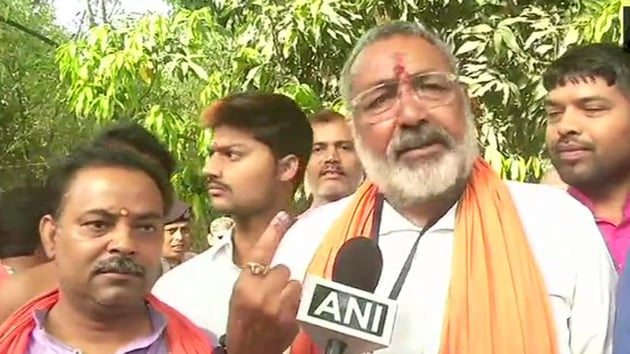 BJP candidate Giriraj Singh is among the NDA leaders whose fate will be decided in the fourth phase of voting in Lok Sabha Elections 2019.(ANI / Twitter)