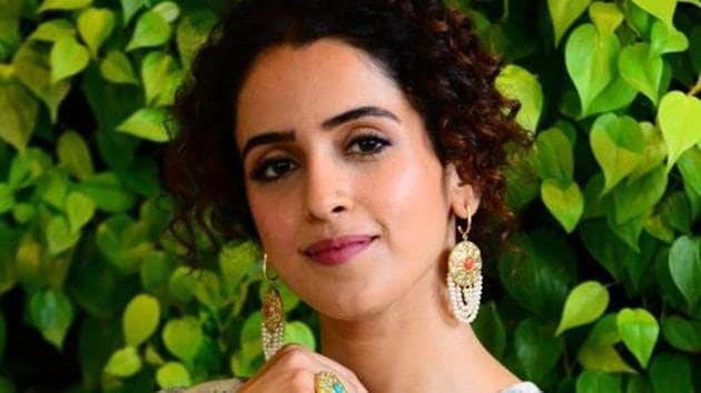 Sanya Malhotra urges everyone to dance as if no one's watching and let the happy hormones flow.(Viral Bhayani)