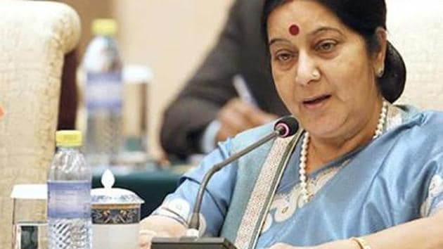 External affairs minister Sushma Swaraj spoke to her US counterpart Mike Pompeo on Saturday about flexibility in US sanctions on Iranian oil imports .(AFP File Photo)