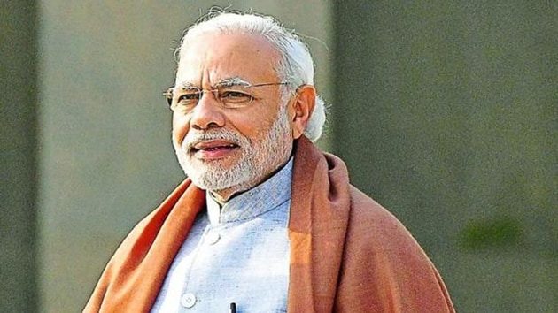 Mahant Nritya Gopal Das, head of the Ram Janmabhoomi Nyas, said he wanted PM Modi to offer prayers at the makeshift Ram temple when he visits Ayodhya on May 1.(HT Photo)