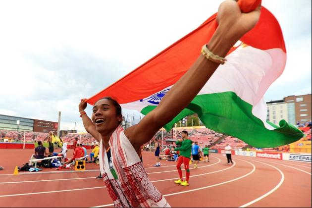The women's team's chances of making the cut for the World Championships as well as the Olympics have been bolstered by the news of Hima Das having recovered from a back spasm she suffered at the Asian Championships, which resulted in her not running the finals(File Photo)