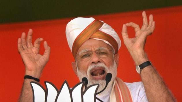 In his Latur speech , Prime Minister Narendra Modi had asked voters to support BJP to honour soldiers who carried out airstrikes in Pakistan's Balakot.(PTI File Photo)