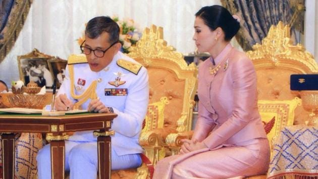 Just days before his official coronation, Thailand's King Maha Vajiralongkorn on Wednesday married the deputy head of his personal guard force and gave her the title Queen Suthida.(REUTERS)