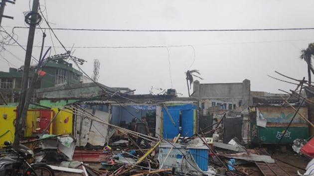 At least three people were killed on Friday as Cyclone Fani battered Odisha, causing extensive damage in Puri and many others parts of the eastern state.(Debabrata Mohanty)