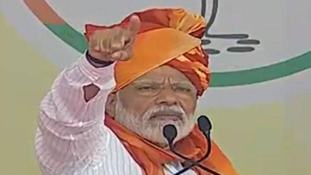 In a riposte to the Congress's claims that six surgical strikes were carried out during the UPA tenure, PM Modi said it made no difference whether they were on paper or in a video game.(ANI/Twitter)