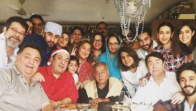 Many members of Kapoor family including brother Rishi, Randhir and Rajeev Kapoor at late Shashi Kapoor's residence for their annual Chritsmas lunch.