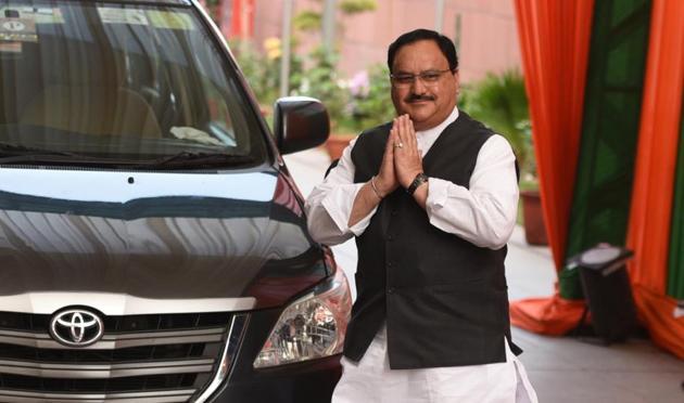 Union Health Minister and BJP Leader JP Nadda.(Sonu Mehta/HT Photo)
