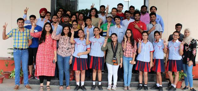 CBSE 10th result 2019: Students of GD Goenka Public School, Lucknow. The uncertainty around the date for declaration of CBSE Class 10 results is giving sleepless nights not only to students but to parents as well.(Representative image)