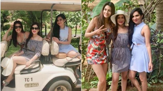 Kriti Sanon and her friends shared several pics from their Goa vacation on Instagram.(Instagram)