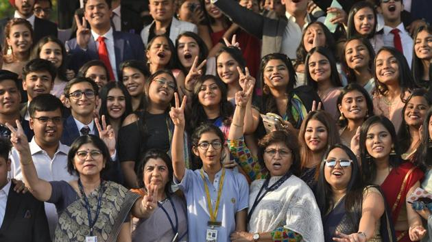 The pass percentage of girls was 92.65% against last year's 88.67%, while that of boys was 90.14% against last year's 85.32%. The pass percentage of transgender candidates was 94.74%.(Burhaan Kinu/HT PHOTO)