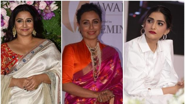 Rani Mukerji, Sonam Kapoor and Juhi Chawla were on Vidya Balan's radio show and spoke about their mothers-in-law.(IANS/AFP)