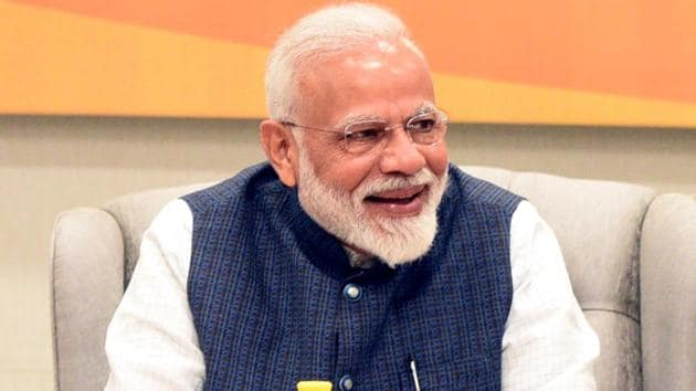 Prime Minister Narendra Modi said the election is being fought on the basis of performance, not perception.(Sonu Mehta/HT PHOTO)