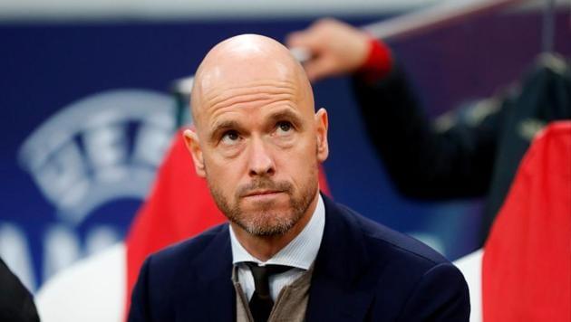 Ajax coach Erik ten Hag before the match(Action Images via Reuters)