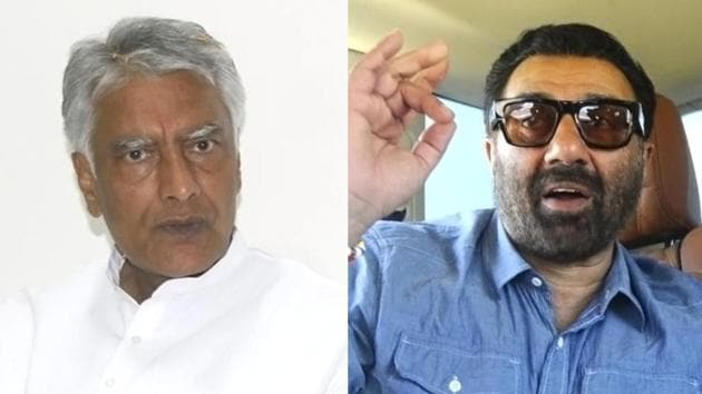 Sunil Jakhar (left) of the Congress is pitted against BJP's Sunny Deol in Gurdaspur Lok Sabha constituency.(Agencies)