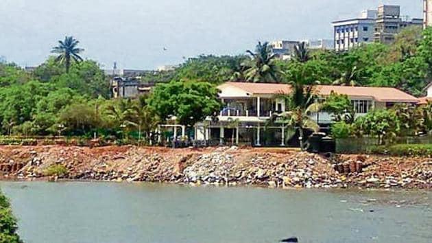 The area in question near Sagar Matha Club, Navy Nagar.