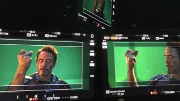 Robert Downey Jr films his final scene for Avengers: Endgame.
