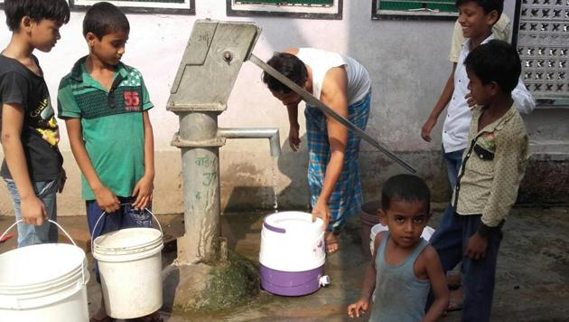 Darbhanga is facing an acute water shortage which is likely to worsen in the coming months.(HT Photo)