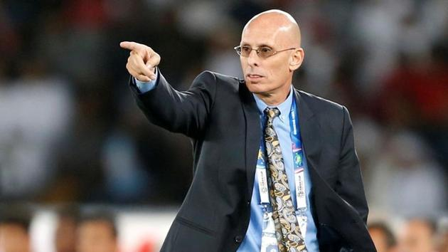 Soccer Football - AFC Asian Cup - India v United Arab Emirates - Group A - Zayed Sports City Stadium, Abu Dhabi, United Arab Emirates - January 10, 2019 India coach Stephen Constantine REUTERS/Satish Kumar(REUTERS)