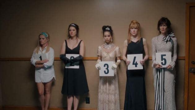 Reese Witherspoon, Nicole Kidman, Shailene Woodley, Zoe Kravitz and Laura Dern in Big Little Lies.