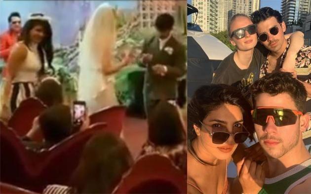 Priyanka Chopra at Joe Jonas and Sophie Turner's wedding on May 1.(Instagram)