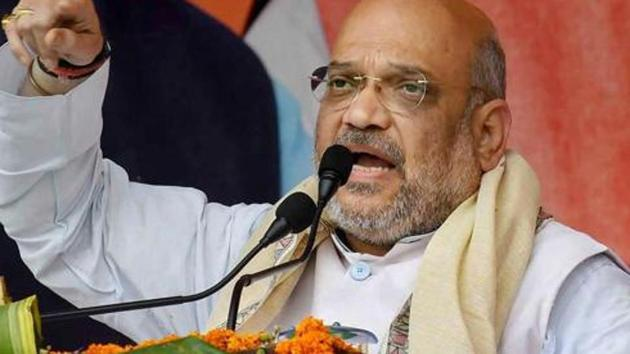 An intervention application has been filed in the Supreme Court seeking action against Bharatiya Janata Party (BJP) president Amit Shah for his statements on Assam's National Register of Citizens and the Citizenship Act (Amendment) Bill, 2016.(PTI)