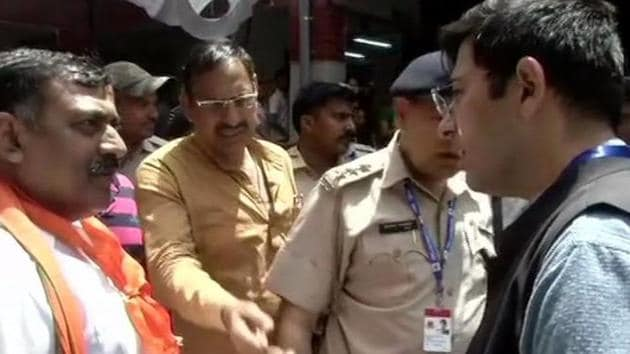 The AAP candidate claimed that these tactics are being used by his BJP rival Ramesh Bidhuri.