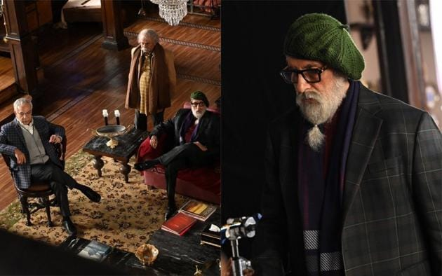 Amitabh Bachchan on the sets of Chehre.(Twitter)