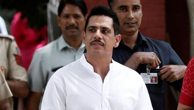 """Robert Vadra, Congress leader Priyanka Gandhi Vadra's husband, on Sunday took to Facebook to clarify that he had made an """"aberration"""" after he used the Paraguayan flag instead of the Tricolour to spread awareness about the Lok Sabha elections on social media.(REUTERS)"""