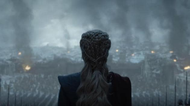 Game of Thrones: Daenerys Targaryen in a still from the series finale.